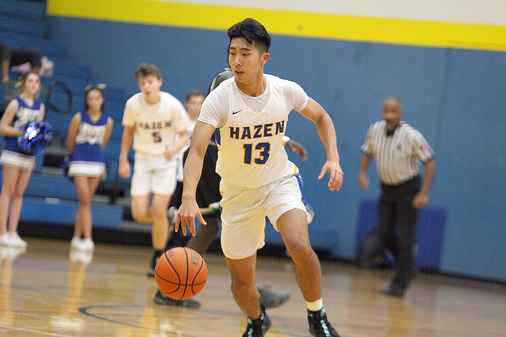 Kentwood serves Hazen basketball a loss